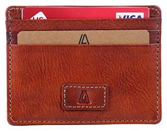 Leather Architect -Men's Real Italian Leather Slim Card Holder with RFID blocking-