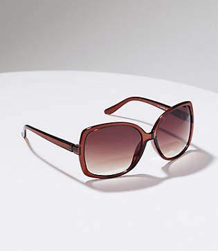 LOFT Oversized Square Sunglasses