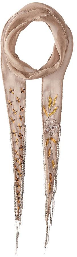 Chan LuuChan Luu Floral Embellised Skinny Scarf