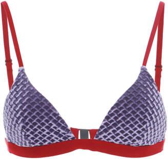 Onia Danni Printed Bikini Top