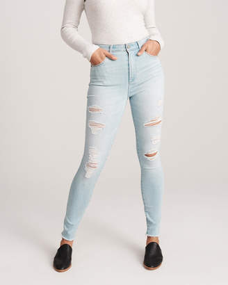 Abercrombie & Fitch Ripped High Rise Super Skinny Jeans