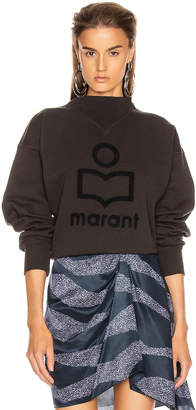 Etoile Isabel Marant Moby Sweater in Faded Black & Black | FWRD