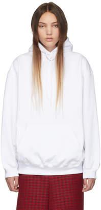 Balenciaga White Back Logo Hoodie