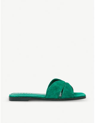 Sandro Crossover suede sandals