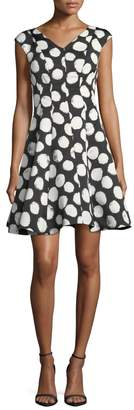 Julia Jordan Polkadot Flair Dress