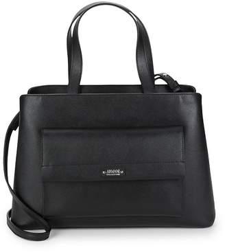 Armani Collezioni Women's Open Top Leather Satchel