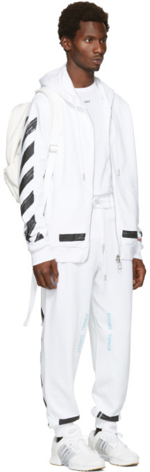 Off-White White Diagonal Brushed T-Shirt 3