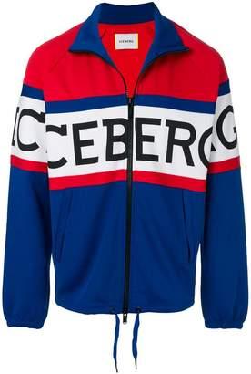 Iceberg logo zipped jacket