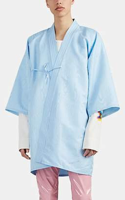 Maison Margiela Men's Moiré Kimono Jacket - Blue