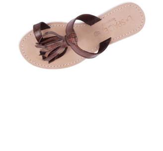 Cocobelle Leather Fringe Sandals