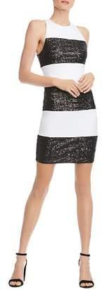 Bailey 44 Sequined Paneled Dress