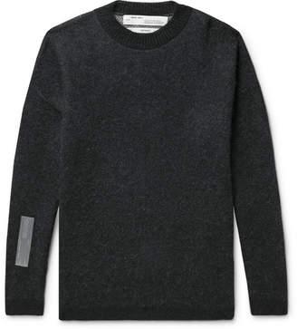 Off-White Off White Oversized Logo-Intarsia Sweater - Men - Black