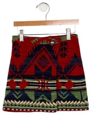 Ralph Lauren Girls' Intarsia Knit Skirt