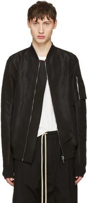 Rick Owens Black Flight Bomber Jacket $1,535 thestylecure.com