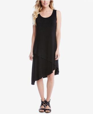 Karen Kane Asymmetrical Shift Dress $109 thestylecure.com