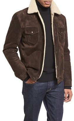 TOM FORD Shearling-Lined Suede Jacket, Chocolate Brown $7,490 thestylecure.com