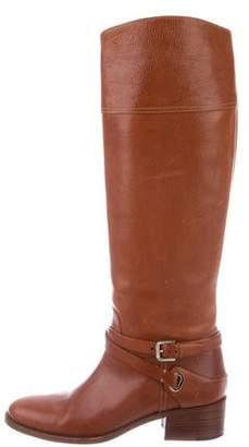 Ralph Lauren Purple Label Leather Low-Heel Boots