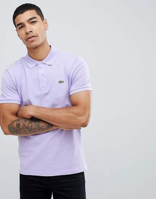 Lacoste slim fit pique polo in lilac