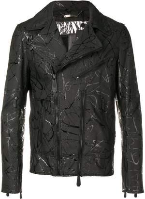 Philipp Plein Strange biker jacket