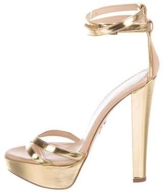 Charlotte Olympia Metallic Platform Sandals