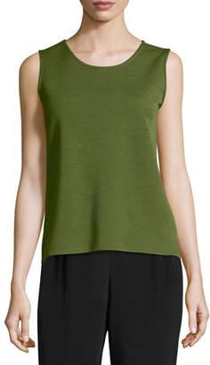Caroline Rose Wool Knit Basic Tank, Petite