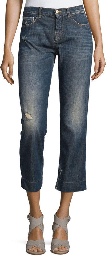 See By ChloeSee by Chloe Distressed Cropped Jeans, Denim