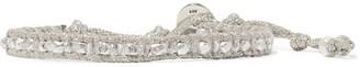 Chan Luu - Silver Crystal Wrap Bracelet - One size $120 thestylecure.com