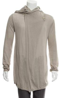 Rick Owens Hooded Open front cardigan Hooded Open front cardigan