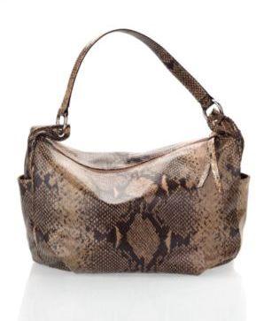 Hobo Bags Snake-embossed leather slouchy hobo