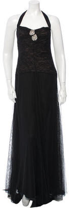 Vera Wang Lace Evening Dress $140 thestylecure.com
