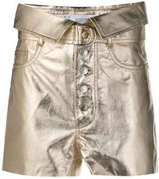 IRO metallic high-rise shorts