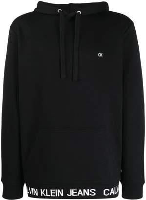 Calvin Klein Jeans logo hem hoodie