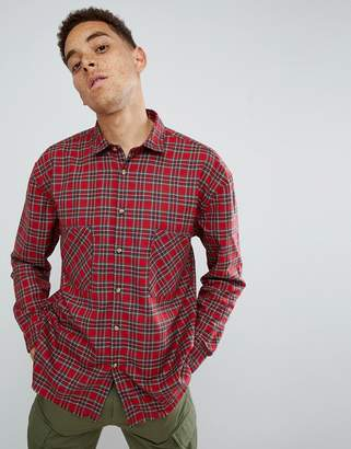 Mennace Red Plaid Relaxed Shirt