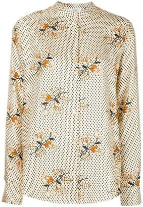 Forte Forte floral band collar shirt