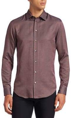 Emporio Armani Micro-Weave Button-Down Shirt