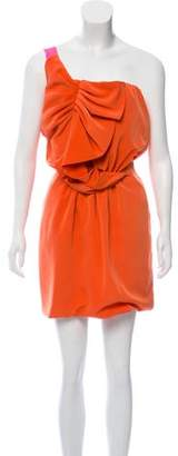 Miguelina Ruched One-Shoulder Mini Dress