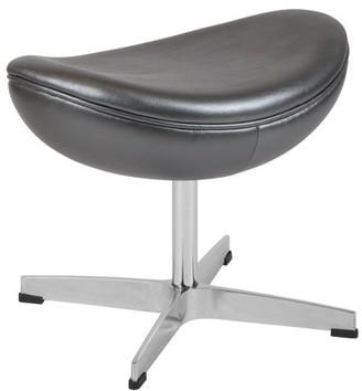 Flash Furniture Gray Leather Ottoman