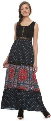 Disney Pirates of the Caribbean: Juniors Collection Mixed Print Maxi Dress $58 thestylecure.com