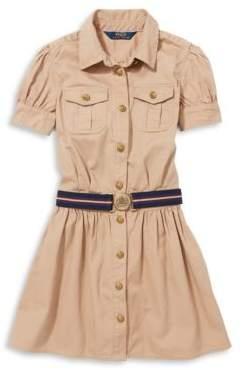 Ralph Lauren Childrenswear Solid Collared Shirtdress