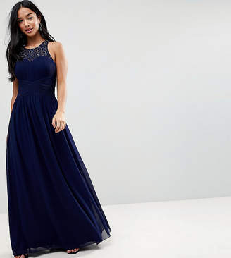 Little Mistress Petite Maxi Dress With Embellishment