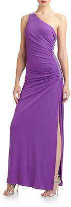 Laundry by Shelli Segal Women's Strapless Pleated Gown