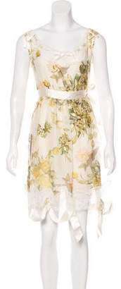 Christian Dior Floral Print Mini Dress