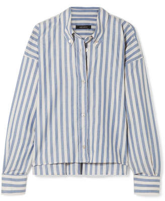 Isabel Marant Macao Oversized Striped Cotton-poplin Shirt - Blue