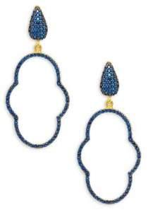 Azaara22K Goldplated Sterling Silver Drop Earrings