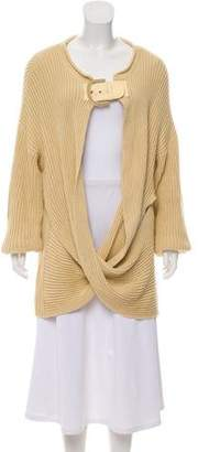 Stella McCartney Buckle-Embellished Oversized Cardigan