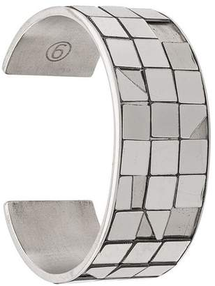 MM6 MAISON MARGIELA mirrored paneled bangle