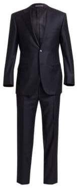 Canali Men's Wool Two-Button Suit - Navy - Size 46 (36) R
