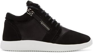 Giuseppe Zanotti Black Singleg Jogger Sneakers $750 thestylecure.com