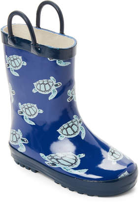 Lilly Of New York (Toddler/Kids) Blue Turtles Rain Boots