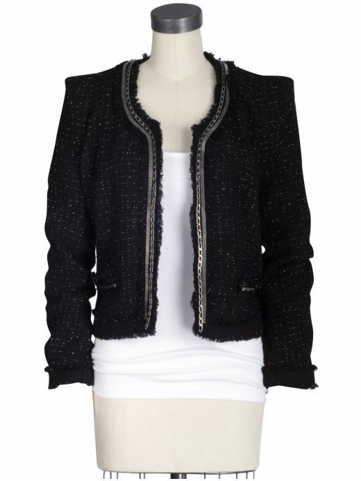 Plastic Island Black Magic Tweed Jacket